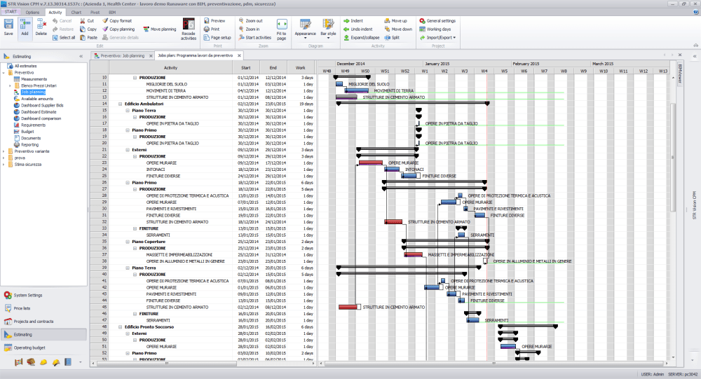 medium resolution of str vision cpm is a construction scheduling software which shows the critical path on which each event is linked to the following activities