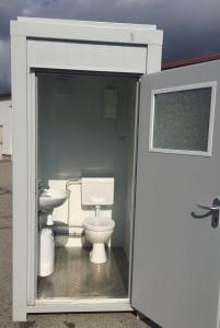 Einzelcontainer mit Waschbecken