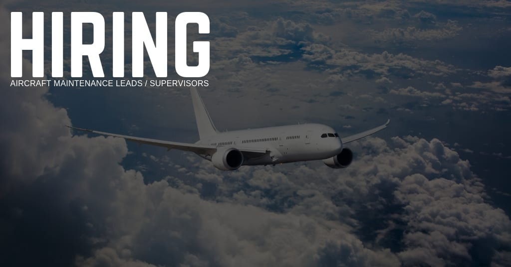 Aircraft Maintenance Leads Supervisor Jobs - STS Technical Services