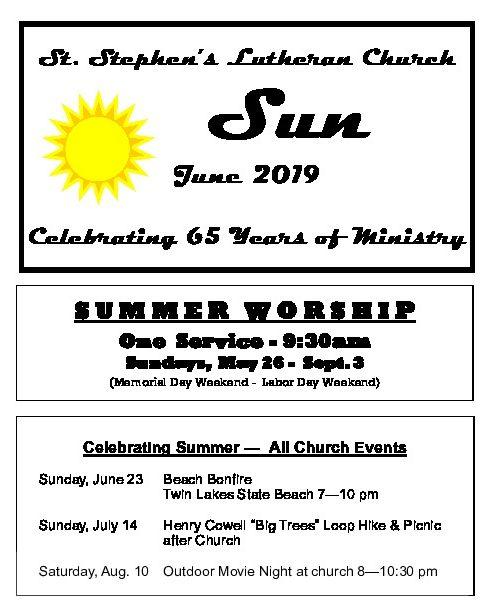June 2019 Newsletter Thumbnail
