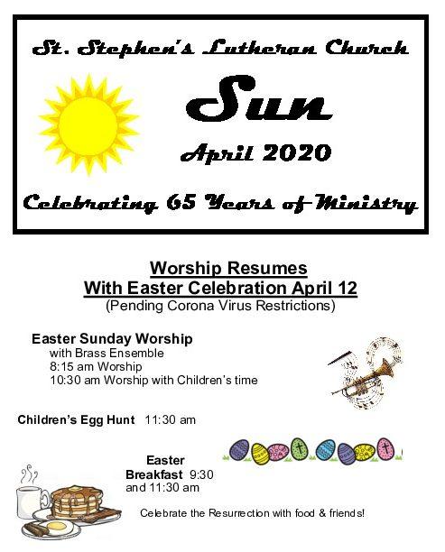 St. Stephens April 2020 Newsletter