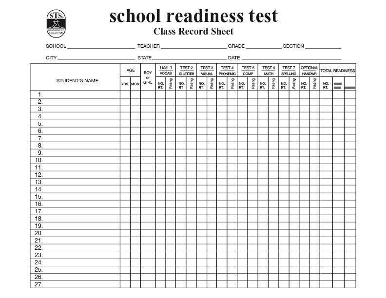 School Readiness Test (SRT)
