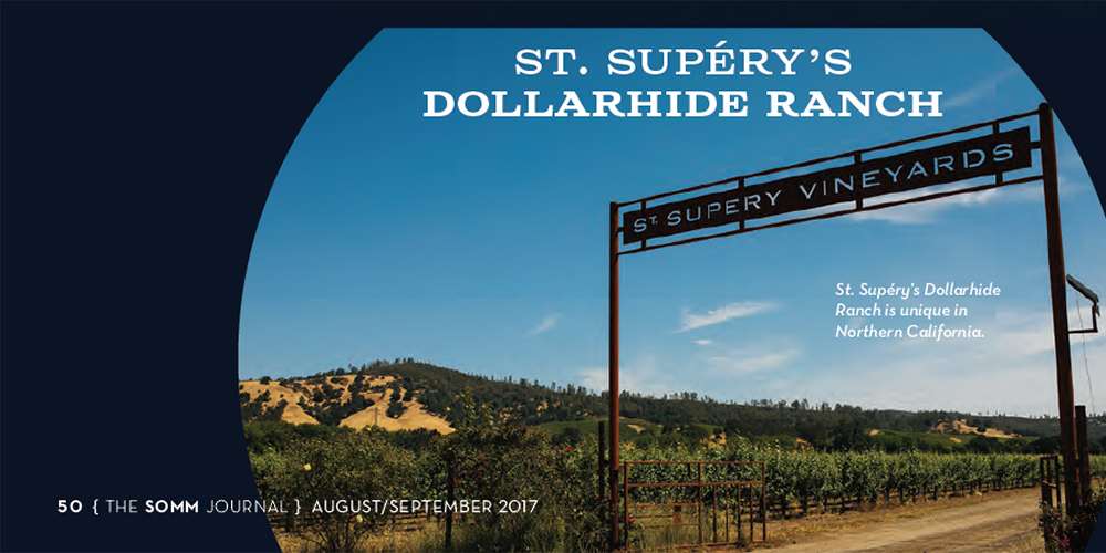 Clip from the Somm Journal featuring St. Supéry Dollarhide Ranch entrance gate