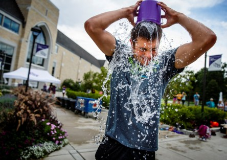 Pour it. (Photo by Mike Ekern '02)