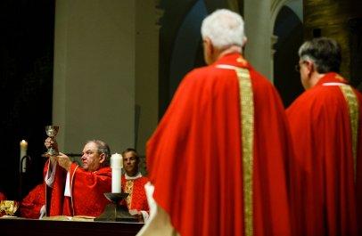 Archbishop Bernard Hebda celebrated the mass.