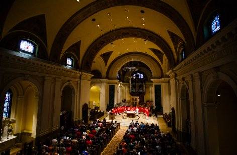The Chapel of St. Thomas Aquinas was filled.