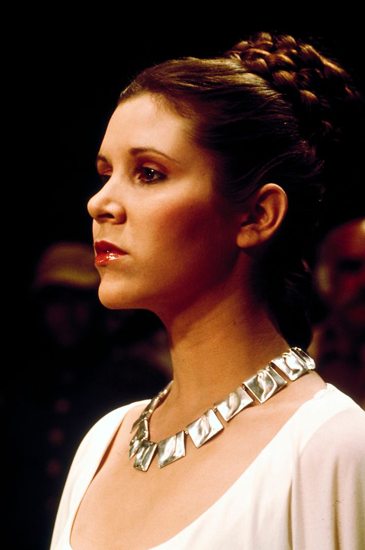 Prinsessa Leia ja Planetaariset laaksot -kaulakoru Tähtien sota: Episodi IV – Uusi toivo -elokuvassa vuonna 1977. (© Lucasfilm Ltd. & TM. All Rights Reserved.& TM. All Rights Reserved.)
