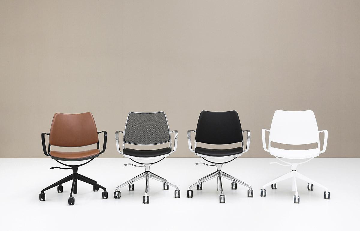 office chair good design finn juhl 108 stua gas swivel with castors task the three frame options black chrome and white