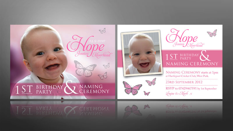 Creative christening invite designs thank you cards for wedding 1st birthday christeningnaming ceremony invite stopboris Gallery