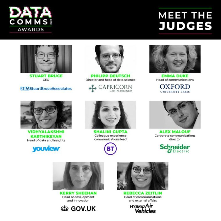 DataComms Awards celebrate the excellent use of data in corporate communications 1