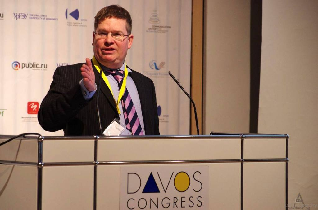 Stuart Bruce, moderator of the Davos World Communication Forum photo