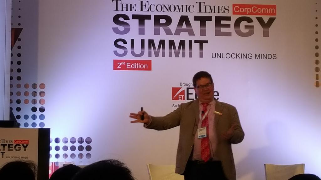 Stuart Bruce, Economic Times Corporate Communications Summit photo