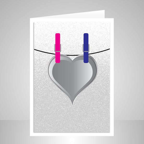 funny minimalist wedding wishes card wed011 display