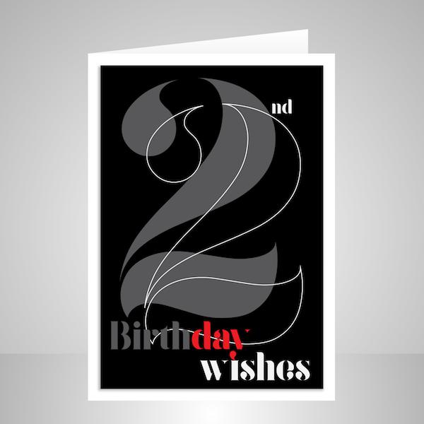 22nd Birthday Card Stuartconcepts