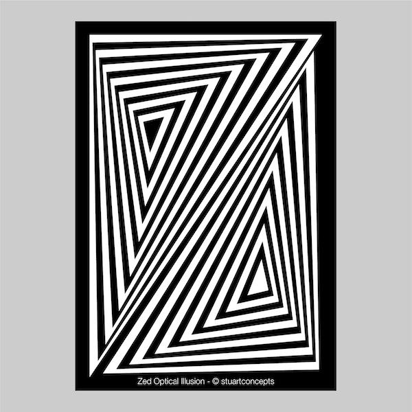 zed optical illusion print stuartconcepts p0026 artwork