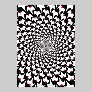 birds optical illusion print p0024 artwork