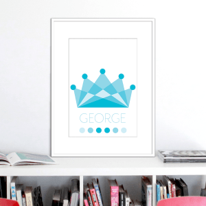 crown ocean colours name print stuartconcepts p0034 white frame