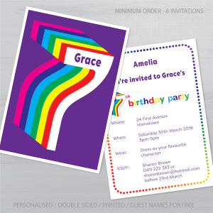 7th birthday invitation inv007 display new
