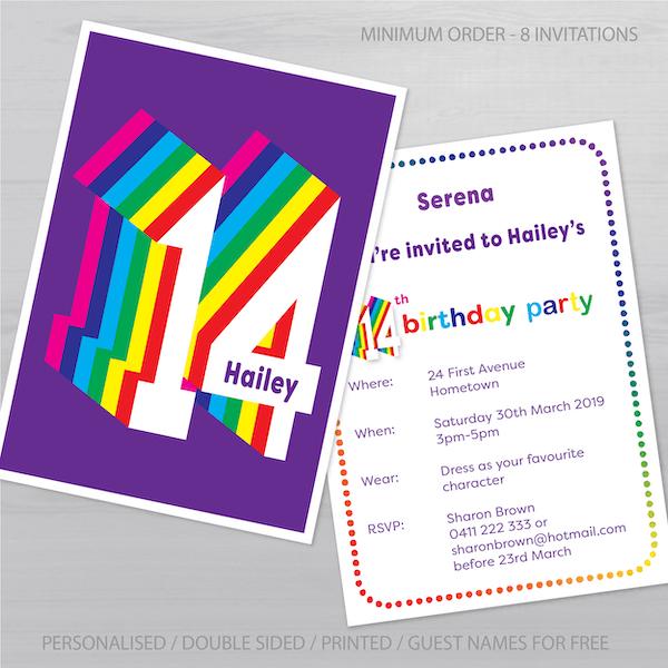 14th birthday invitation inv014 display new_NO 1