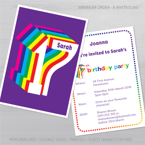 17th birthday invitation inv017 display
