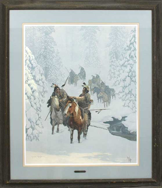 Jacob Pfeiffer Out Of Winters Silence framed print