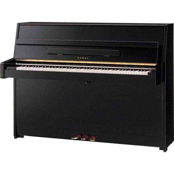 New Kawai K15 upright piano - polished ebony