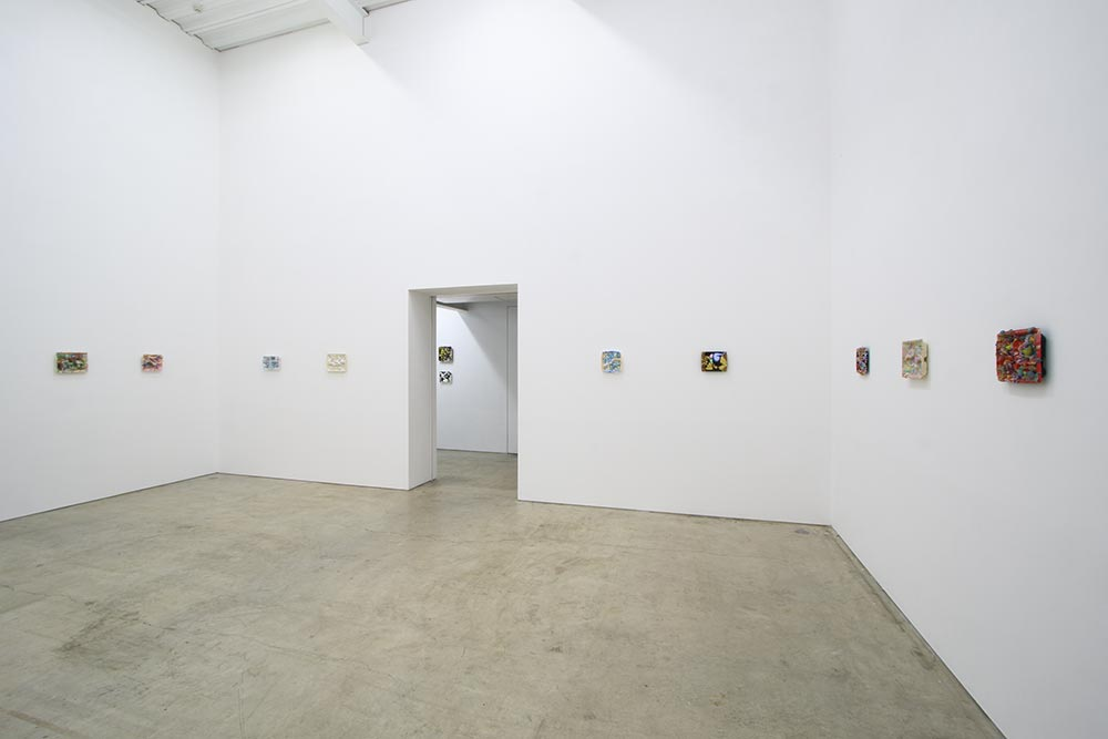 "AIDA Makoto, ""Lunchbox Paintings"" series 2016 Disposable lunchbox, urethane foam, acrylic gouache Let us dream of evanescence, and linger in the beautiful foolishness of things., 7th July - 20th August, Mizuma Art Gallery, Tokyo (installation view) Photography: MIYAJIMA Kei Courtesy Mizuma Art Gallery"