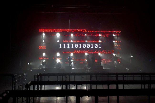 Massive Attack mid-soundcheck, Tokyo 2017