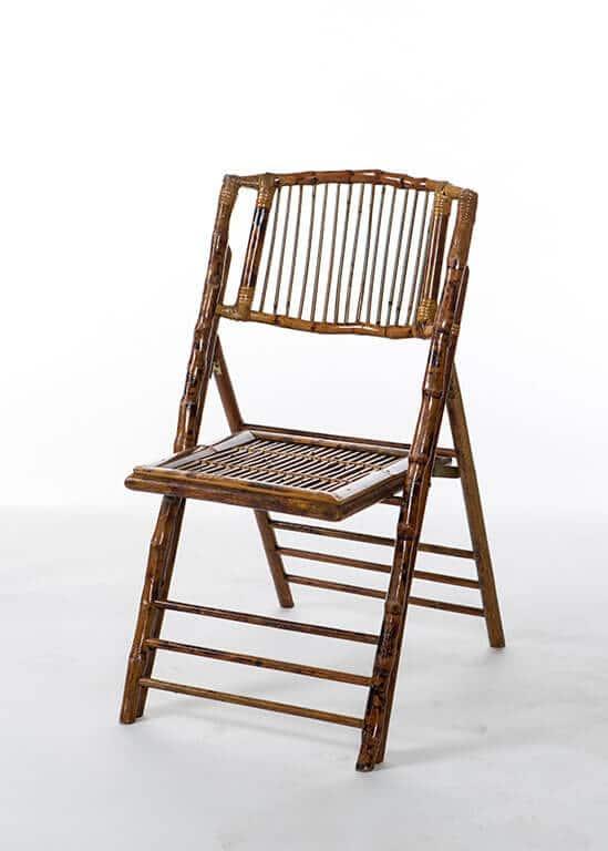 Bamboo Folding Chair  Stuart Event Rentals