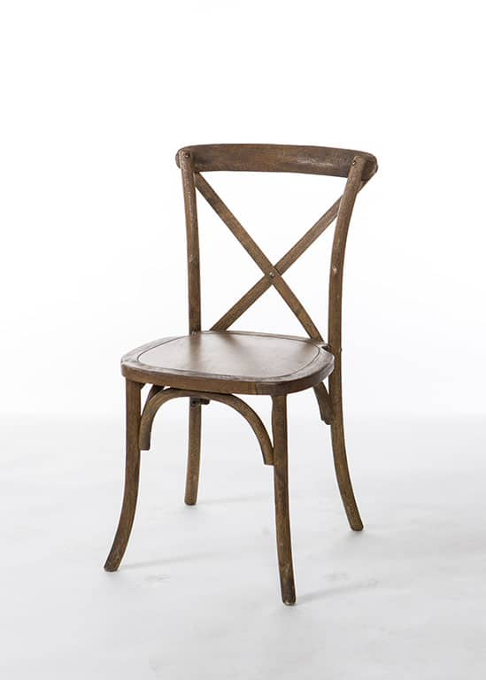 Hickory Crossback Chair  Stuart Event Rentals