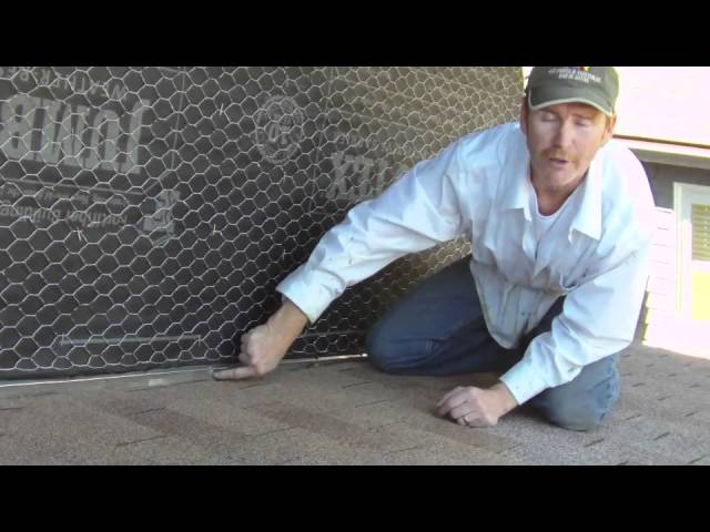 Roof flashing and proper counter flashing using a weep screed