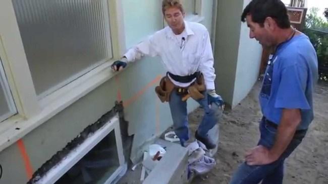 Install new window in concrete foundation, larry beilman construction