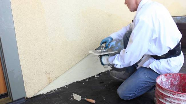 How to color coat over a concrete foundation