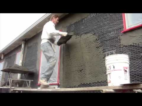 Scratch and Brown plaster coat application, render application