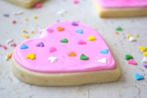 Valentine's Day Sugar Cookies With Sprinkles
