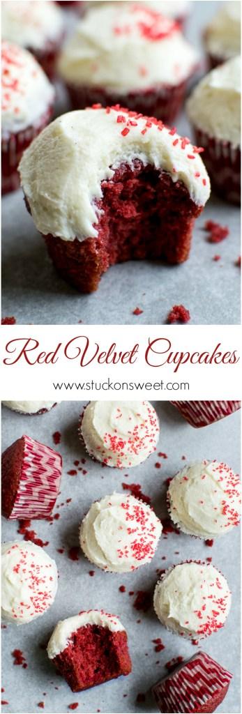 Red Velvet Cupcakes | www.stuckonsweet.com