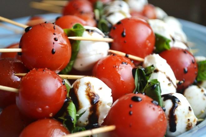 Caprese Salad Skewers - Stuck On Sweet