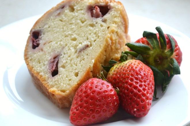 Strawberry Lemon Yogurt Cake - Stuck On Sweet