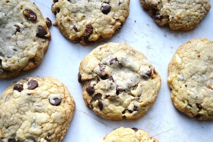 Brown Butter Chocolate Coconut Pecan Cookies | stuckonsweet.com