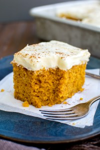 Pumpkin Bars with Extra Cream Cheese Frosting