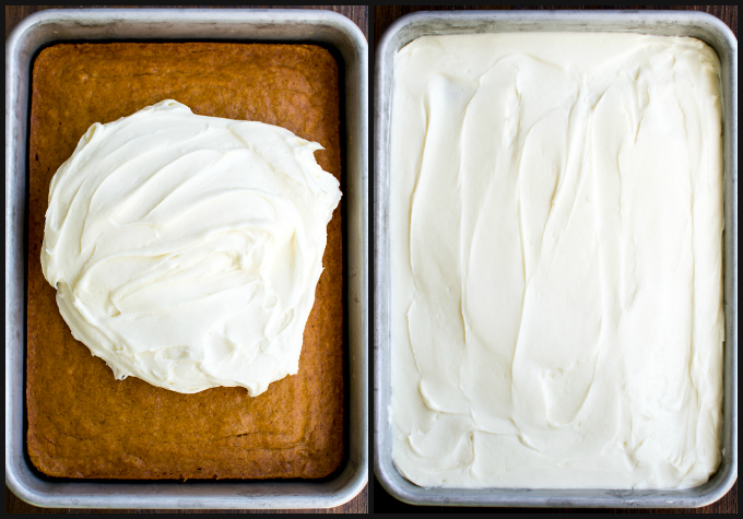 Pumpkin Bars with Cream Cheese Frosting | www.stuckonsweet.com