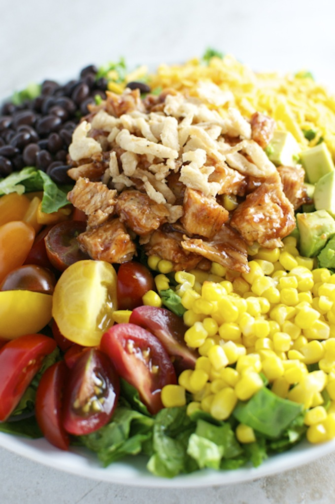 Barbecue Chicken Salad | stuckonsweet.com