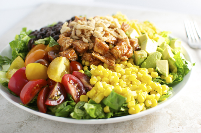 Barbecue Chicken Salad |stuckonsweet.com