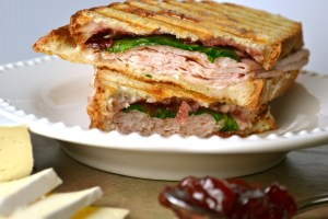 Turkey Panini with Brie and Cherry Preserves