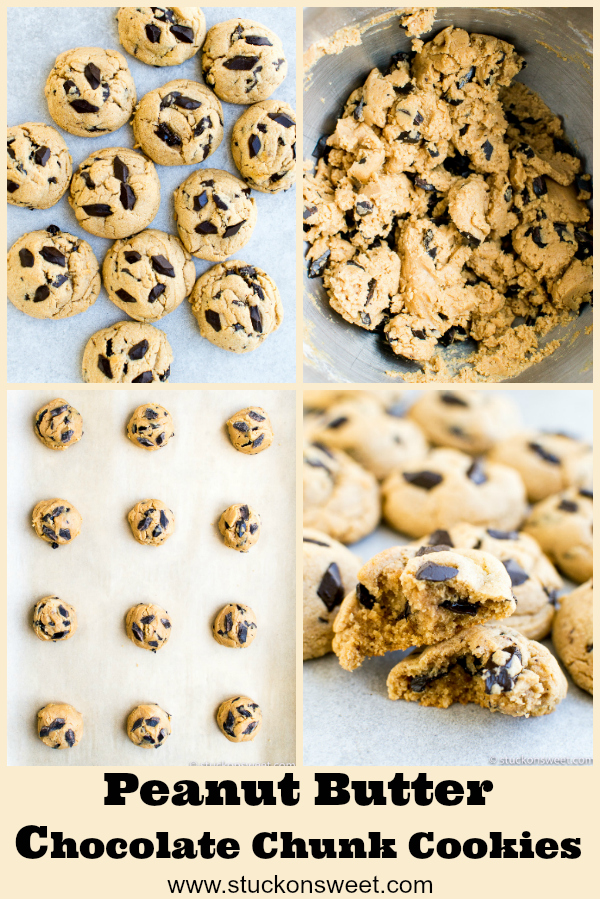 Peanut Butter Chocolate Chips are the best cooke recipe! #stuckonsweet #cookies #recipes #dessert