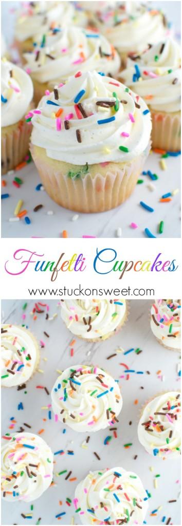 Homemade Funfetti Cupcakes | www.stuckonsweet.com