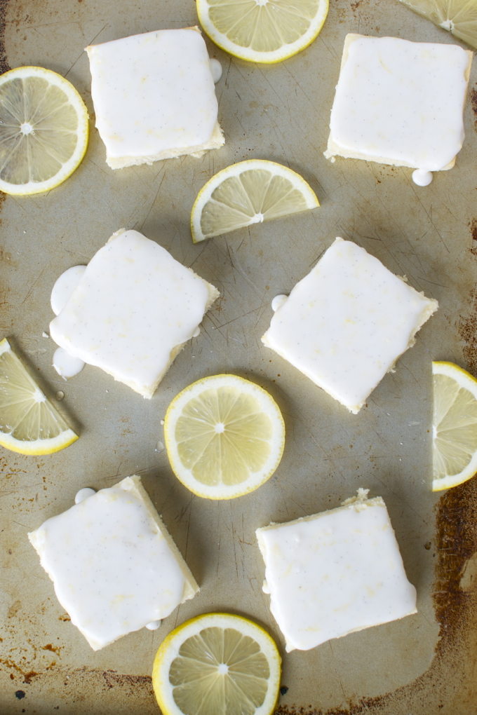 Lemon Brownies with a Lemon Glaze | www.stuckonsweet.com