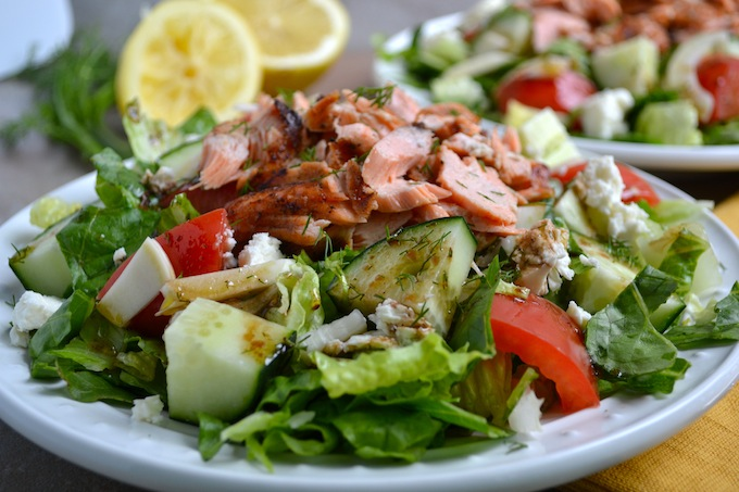 Greek Salmon Salad