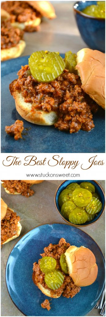 The Best Sloppy Joes Recipe Ever | www.stuckonsweet.com