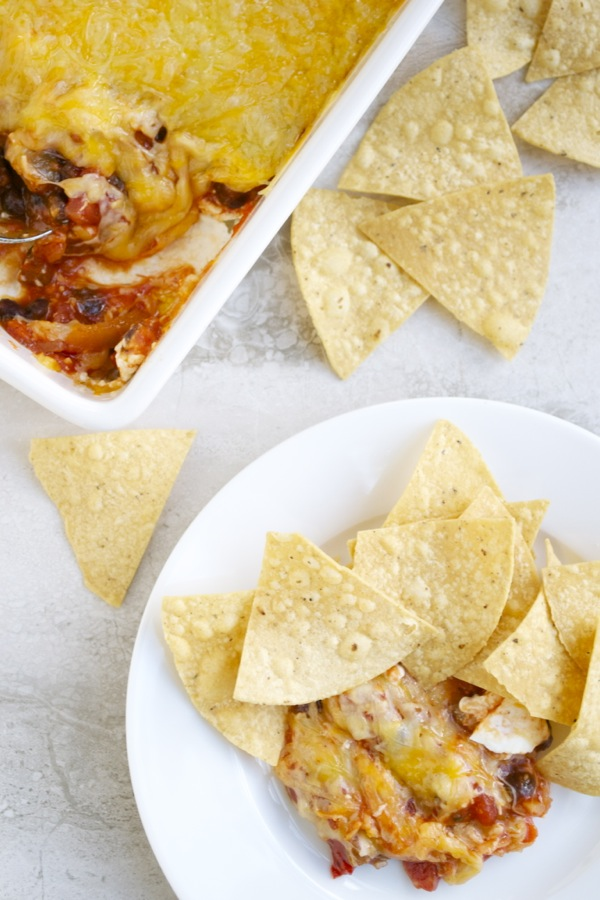 Cheesy Black Bean and Salsa Dip
